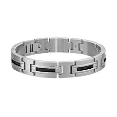 LYNX Stainless Steel Cable Bracelet - Men