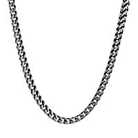 LYNX Stainless Steel Foxtail Chain Necklace - 22 in - Men