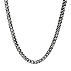 LYNX Stainless Steel Foxtail Chain Necklace - 22 in. - Men
