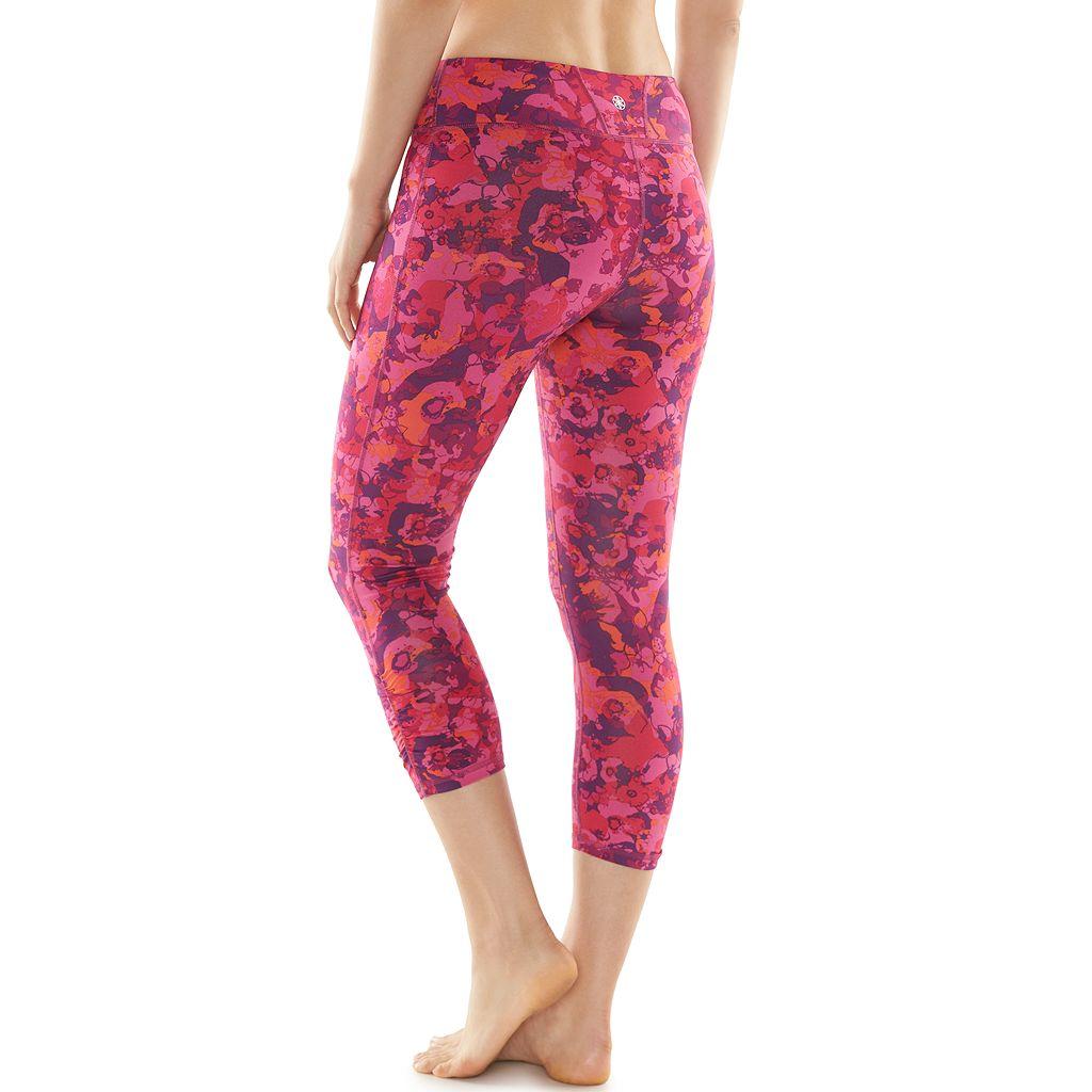 Women's Gaiam Om Yoga Moisture-Wicking Capri Leggings