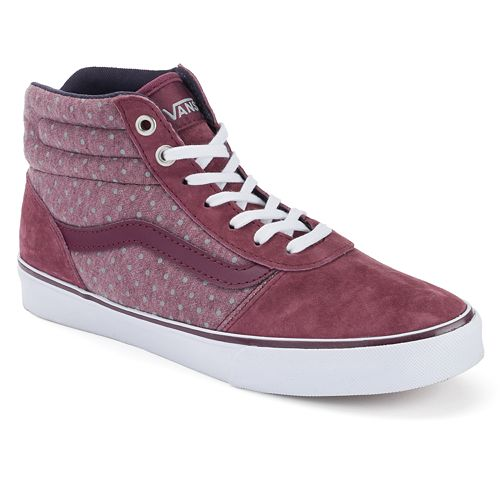 62909aac0c Vans Milton Women s Polka-Dot High-Top Skate Shoes