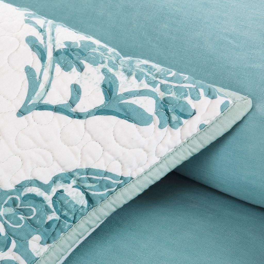 HH Linen 3-pc. Reversible Duvet Cover Set - King