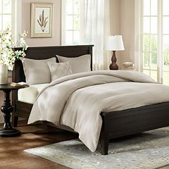 HH Linen 3-pc. Reversible Duvet Cover Set - King