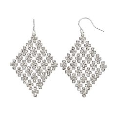 Simulated Crystal Kite Earrings