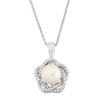 Simply Vera Vera Wang Dyed Freshwater Cultured Pearl and Diamond Accent Pendant Necklace