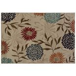 StyleHaven Anja Floral Stone Leaf Rug