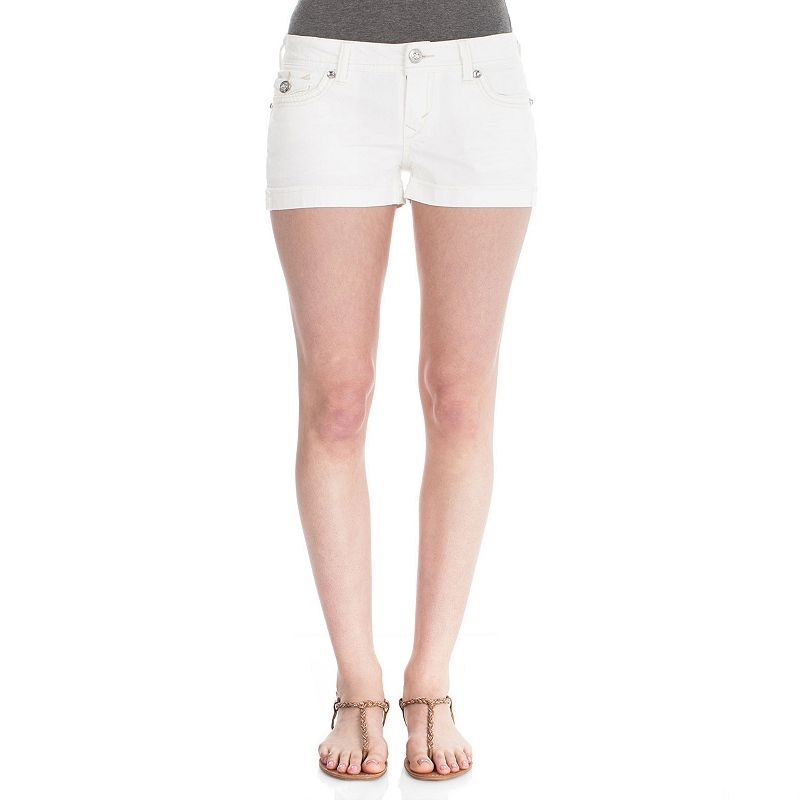 Wallflower Rhinestone Juniors' Jean Shorts