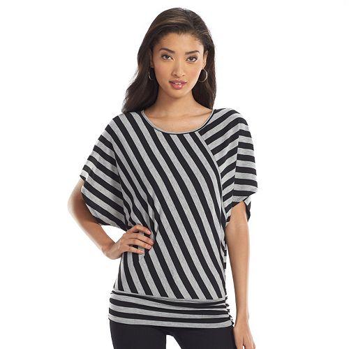 8547076fe16 AB Studio Striped Banded-Bottom Top - Women s