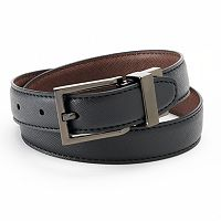 IZOD Textured Reversible Leather Belt - Boys