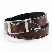 IZOD Double-Stitched Reversible Leather Belt - Boys