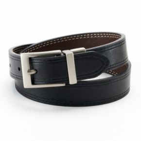 IZOD Double-Stitched Reversible Leather Belt - Boys