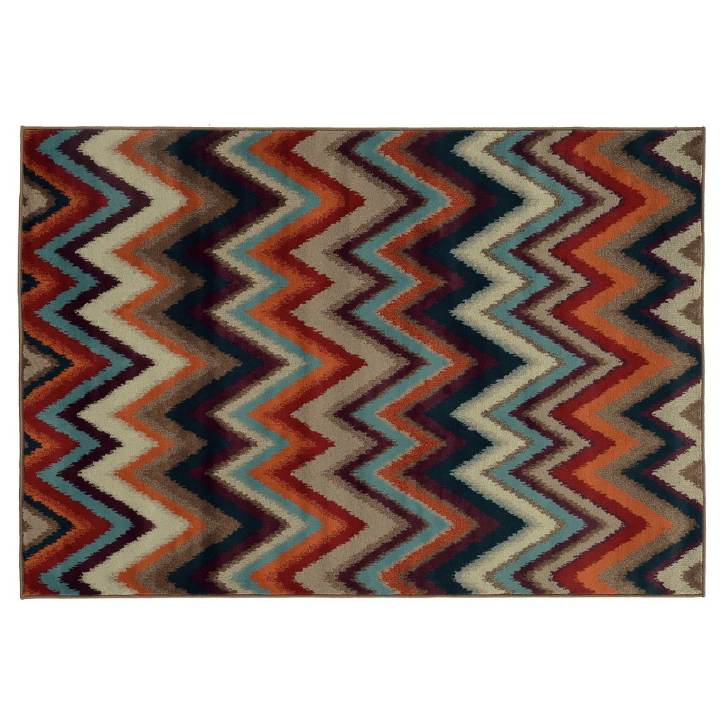 Oriental Weavers Adrienne Multicolored Chevron Rug