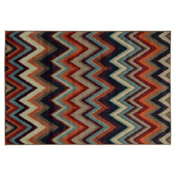 StyleHaven Anja Multicolored Chevron Rug