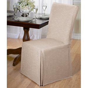 Dining Table Chair Slipcovers madison herringbone dining room chair slipcover
