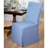 Madison Chambray Dining Room Chair Slipcover