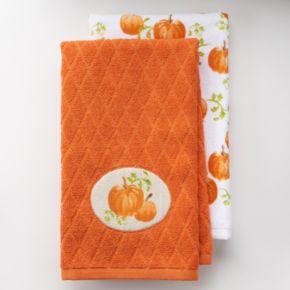 Harvest 2-pc. Pumpkin Kitchen Towel Set