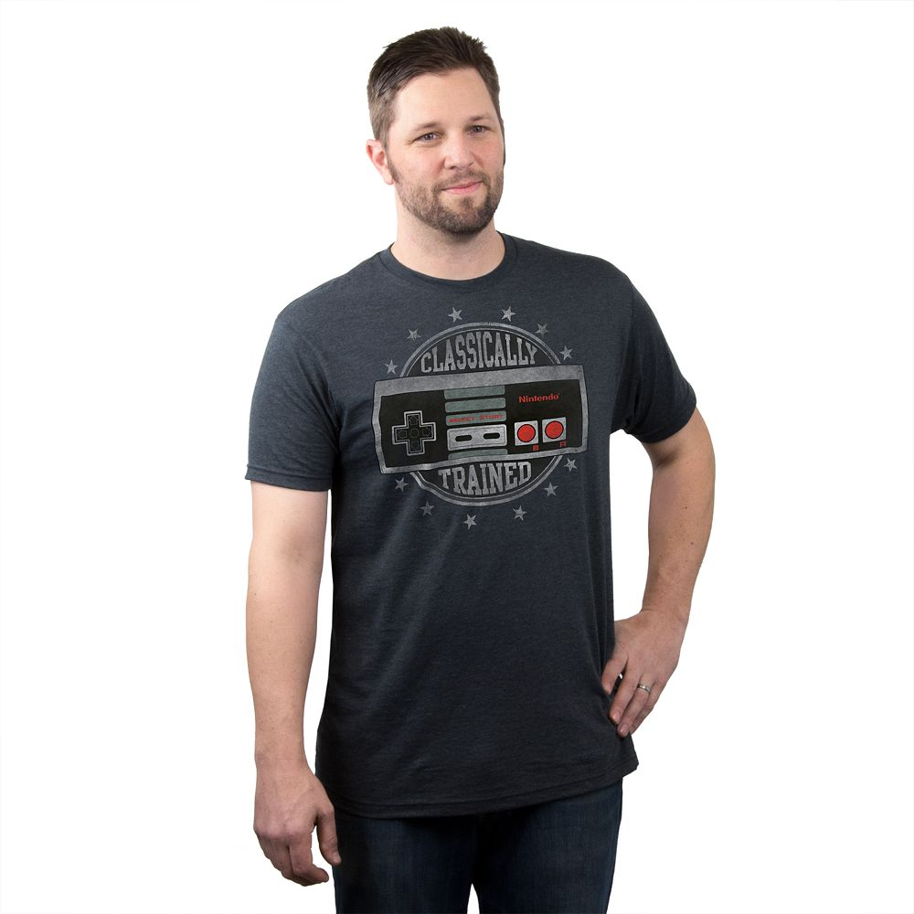 Black t shirts kohls - Men S Nintendo Classically Trained Tee