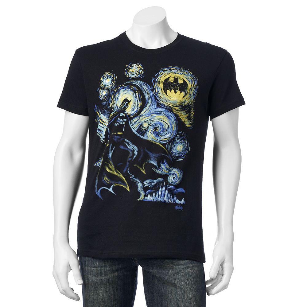 Black t shirts kohls - Men S Batman Starry Night Tee