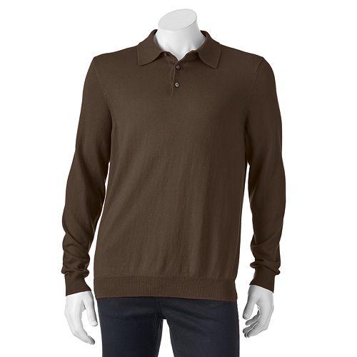 Men's Croft & Barrow® Classic-Fit Solid Fine Gauge Polo