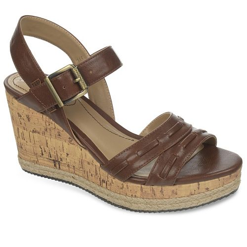 ... dc5ed 451ae LifeStride Elsa Womens Wide-Width Wedge Sandals clearance  sale ... 2037e095c8