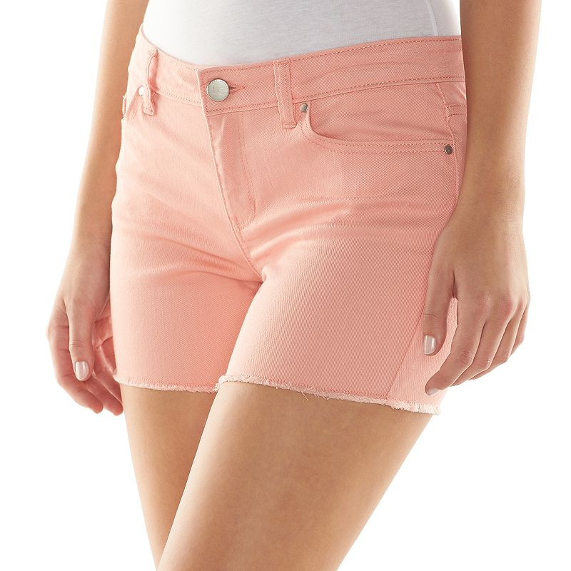LC Lauren Conrad Frayed Jean Shorts - Women's