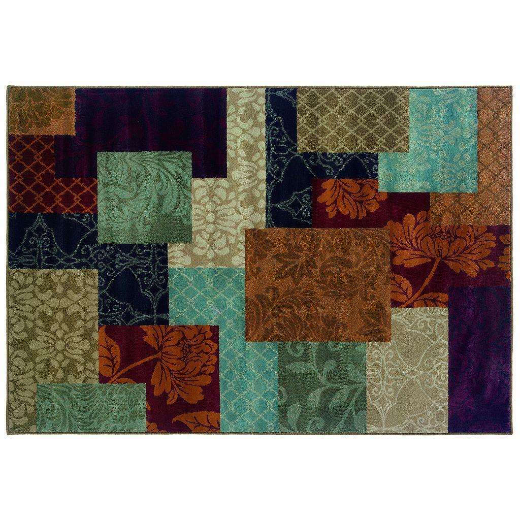 Oriental Weavers Adrienne Floral Block Rug