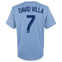 adidas New York City FC David Villa Player Name and Number Tee - Boys 8-20