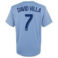 adidas New York City FC David Villa Player Name and Number Tee - Boys 8-20