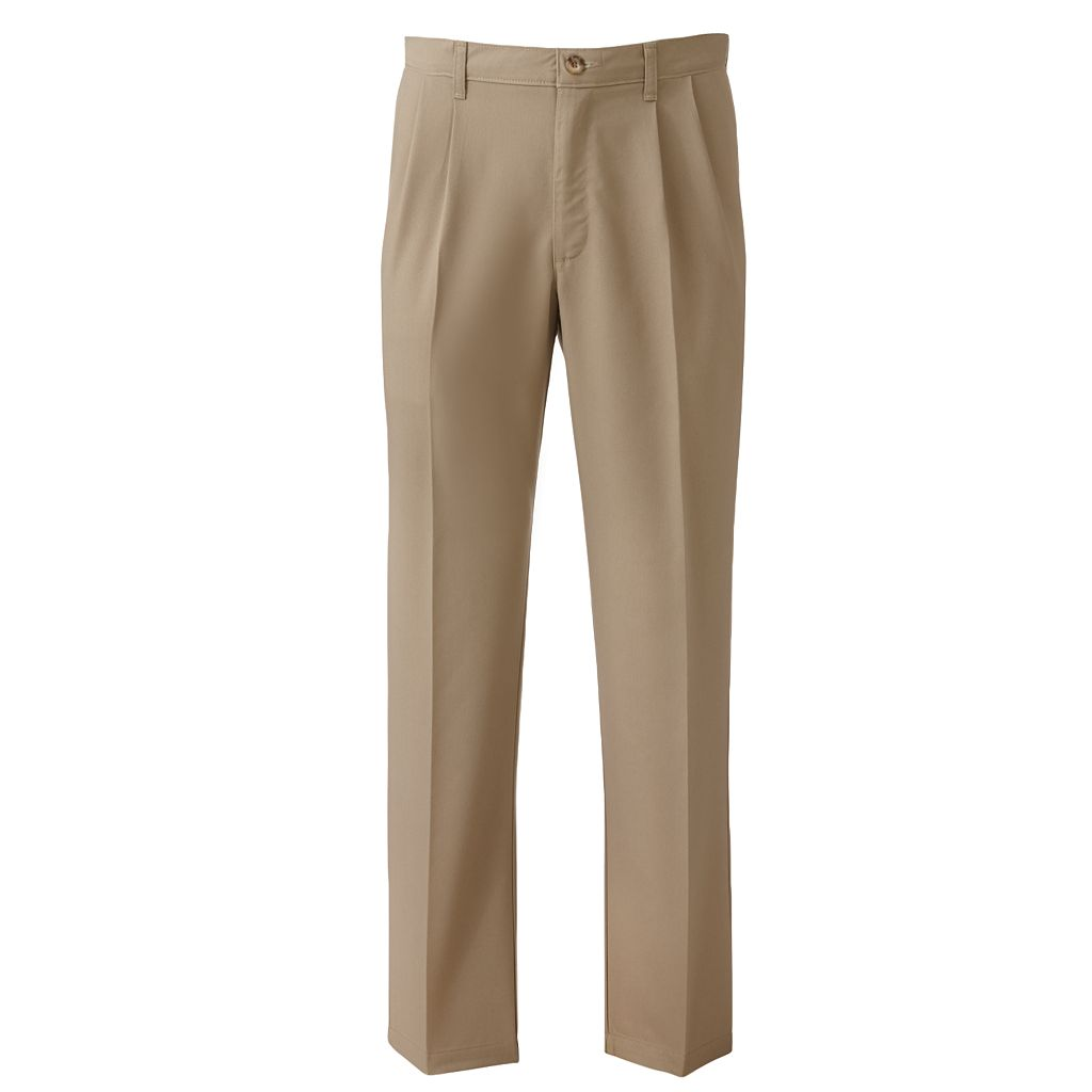 Big & Tall Lee Total Freedom Classic-Fit Stain-Resist Pleated Pants