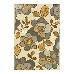 StyleHaven Bayside Floral Ivory Indoor Outdoor Rug