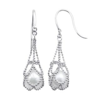 PearLustre by Imperial Freshwater Cultured Pearl Sterling Silver Imperial Lace Earrings
