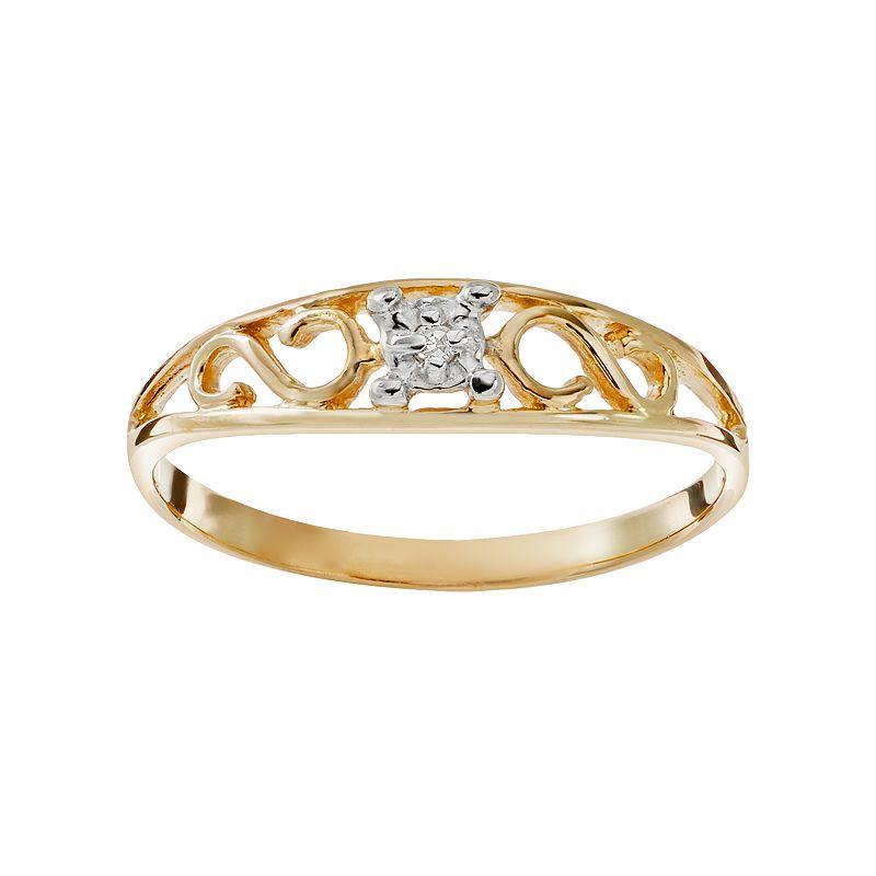 Kids 10k gold jewelry kohl 39 s for Kohls jewelry mens rings