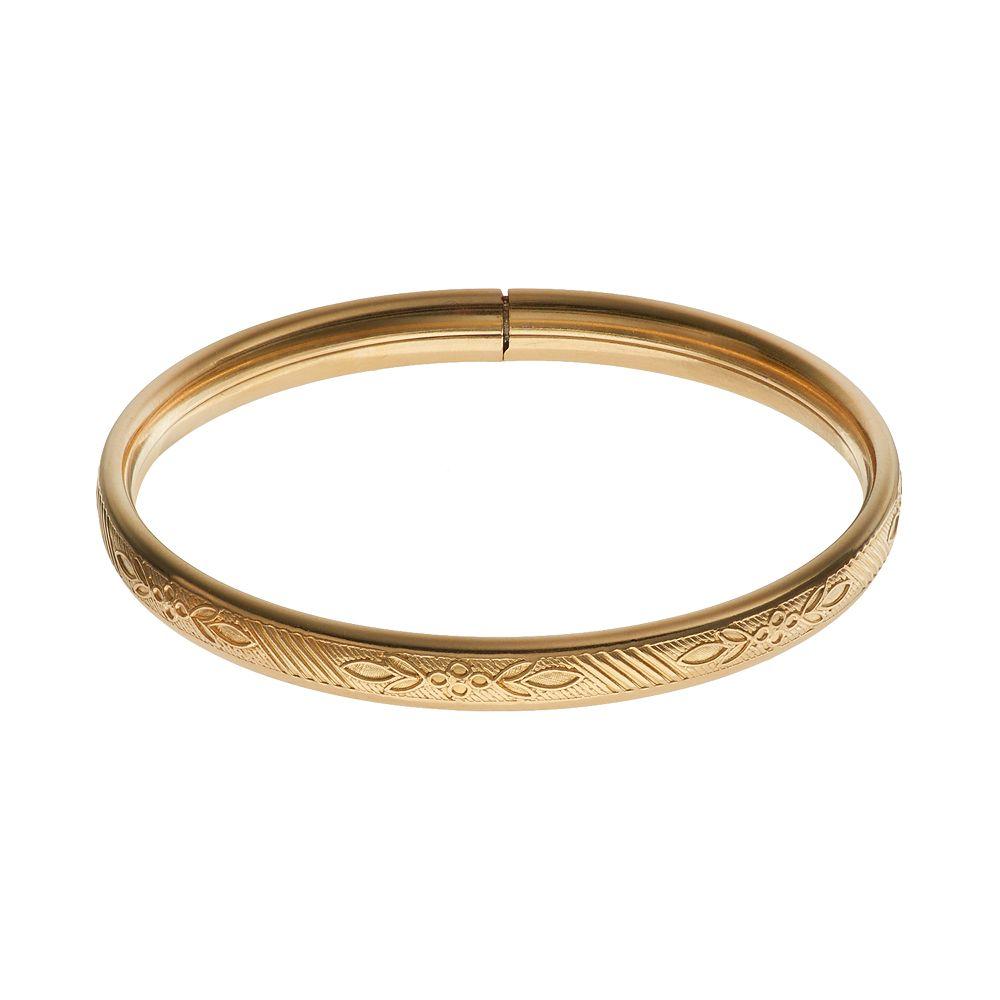 Girl 14k Gold-Filled Flower Bangle Bracelet - Kids