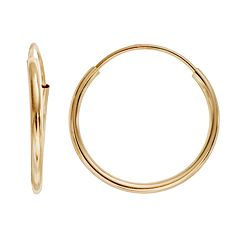 Charming Girl 14k Gold Hoop Earrings - Kids