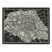 Sterling ''City Map of Paris Circa 1790'' Metal Wall Decor