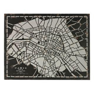 Sterling ''City Map of Paris Circa 1790'' Metal Wall Decor
