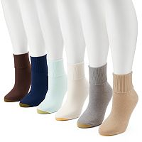 Women's GOLDTOE 6-pk. Ribbed Turn-Cuff Socks