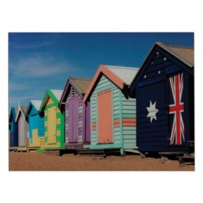 Sterling ''Beach Hut'' Wall Art