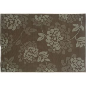 StyleHaven Bayside Floral Gray Indoor Outdoor Rug
