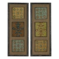 Sterling 2 pc ''Aughton'' Spanish Metal Wall Art Set