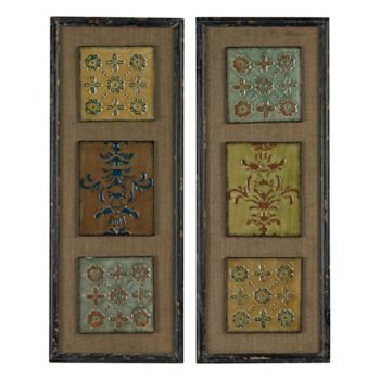 Sterling 2-piece \'\'Aughton\'\' Spanish Metal Wall Art Set