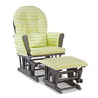 Stork Craft Chevron Hoop Custom Glider Chair & Ottoman Set