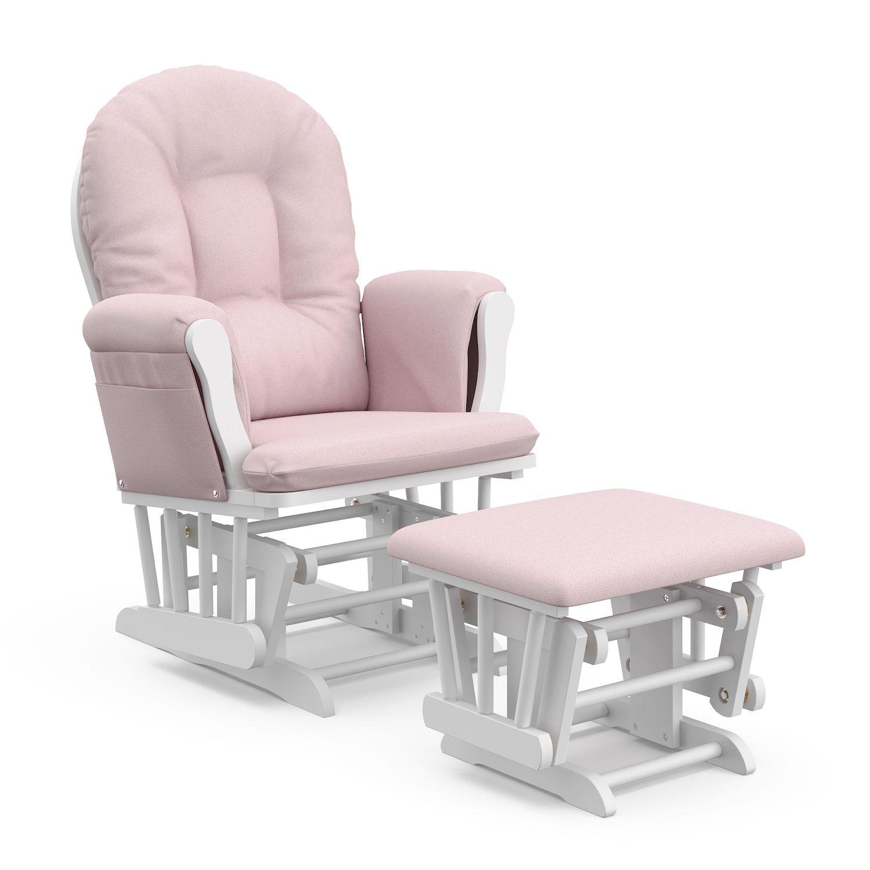 Stork Craft Hoop Custom Glider Chair U0026 Ottoman Set