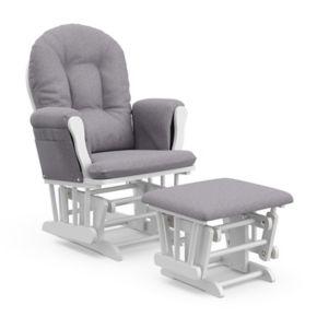 Stork Craft Hoop Custom Glider Chair and Ottoman Set