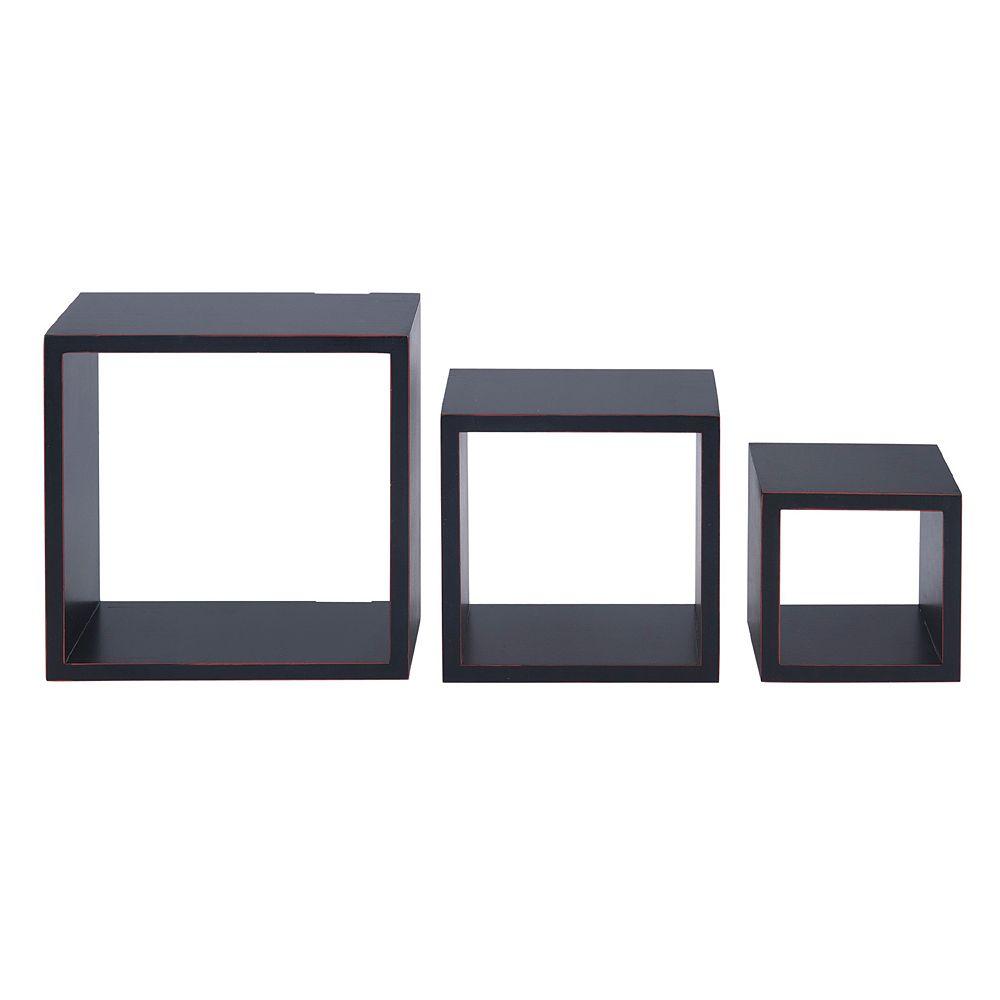 Melannco 3 Piece Nesting Cube Wall Decor Set