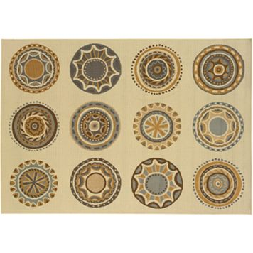 StyleHaven Bayside Circle Medallion Indoor Outdoor Rug