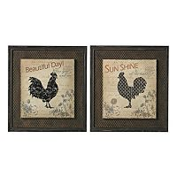 Sterling 2 pc ''Fisher Rooster'' Framed Wall Art Set
