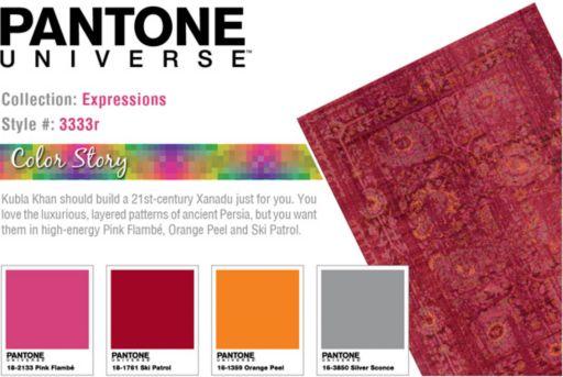 PANTONE UNIVERSE™ Expressions Ornate Floral Rug