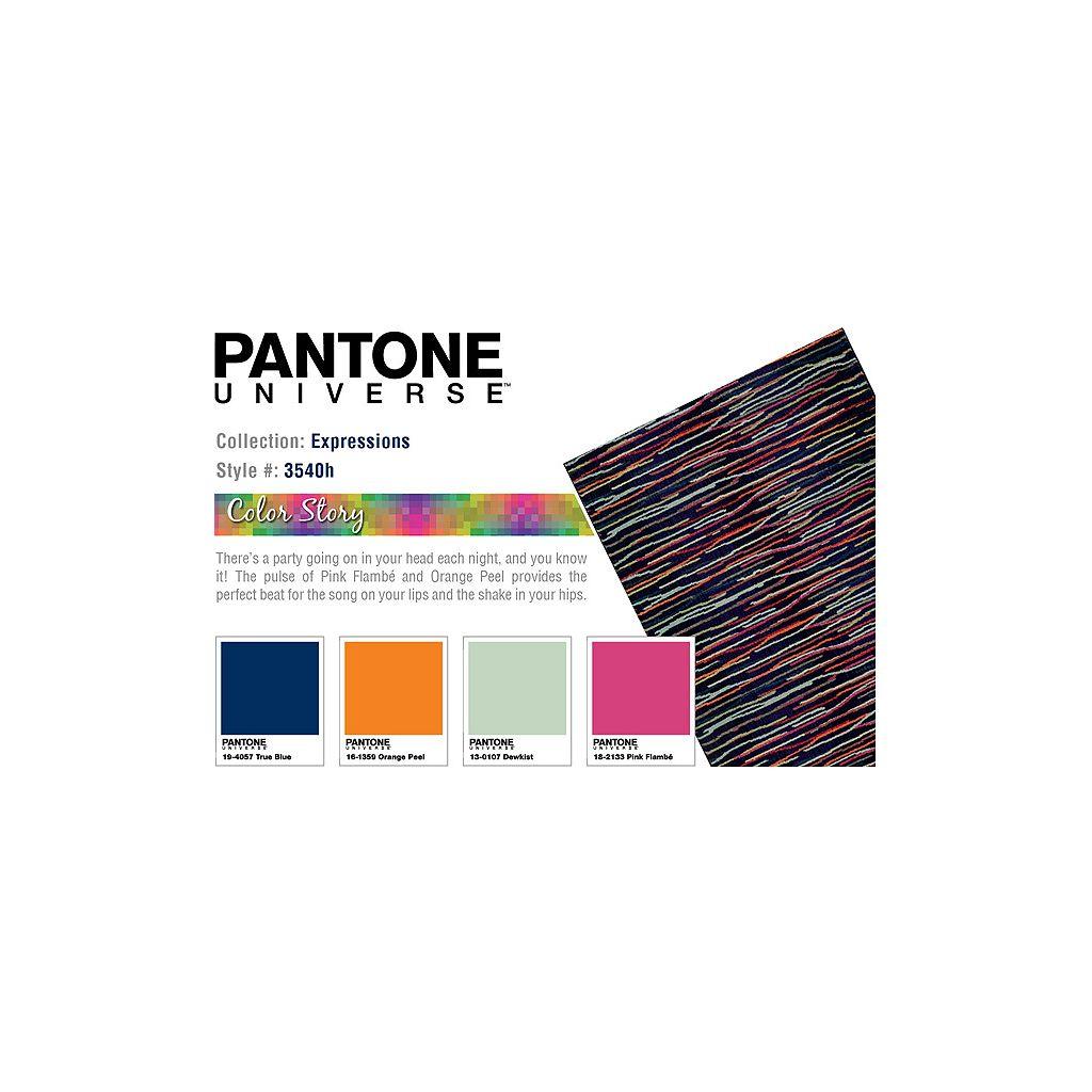 PANTONE UNIVERSE™ Expressions Multi Color Lines Rug