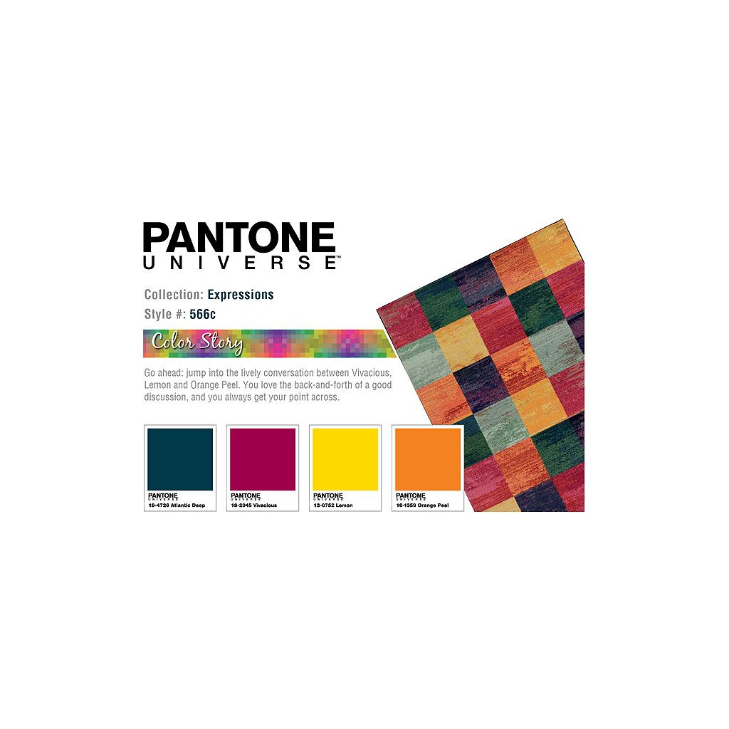PANTONE UNIVERSE™ Expressions Geometric Block Rug
